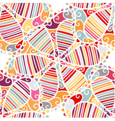 seamless ethnic boho floral pattern vector image