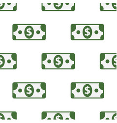 seamless pattern of paper dollar symbol on vector image
