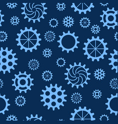 Seamless pattern with gears of different sizes and vector