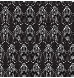 seamless texture on blackboard with cicadas vector image