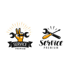 service logo or label repair workshop icon vector image