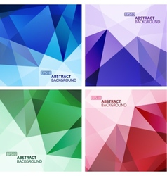set bright colorful abstract geometric vector image