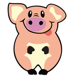 simple pig vector image