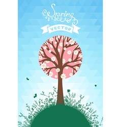 Spring hexagons background vector