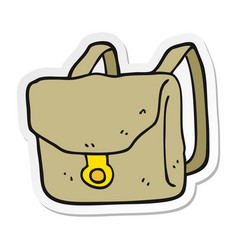 Sticker a cartoon backpack vector