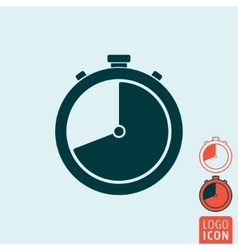 Stopwatch icon isolated vector