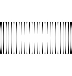 Striped light effect background in black and white vector