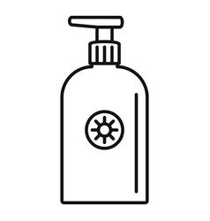 sunscreen dispenser icon outline style vector image