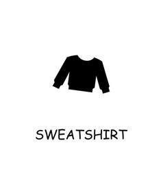 Sweatshirt flat icon vector