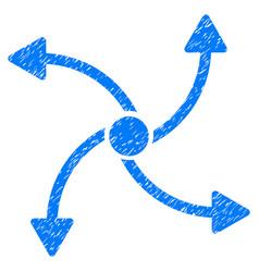 Swirl direction grunge icon vector