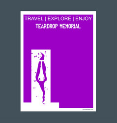 Teardrop memorial bayonne usa monument landmark vector