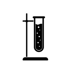 test-tube icon symbol of medical or chemical vector image
