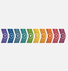 timeline arrows ten positions vector image
