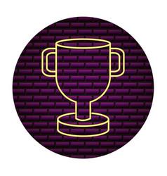 trophy award sign neon vector image