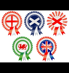 united kingdom rosettes vector image