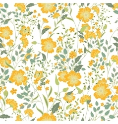 vintage seamless floral pattern Herbs and vector image