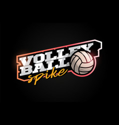 volleyball mascot modern professional sport vector image