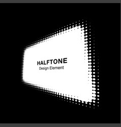 white halftone distort rectangle in perspective vector image