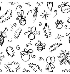 Winter seamless pattern with abstract swirl vector