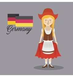 Woman germany culture avatar vector
