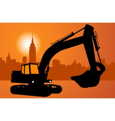 city and construction vector image vector image