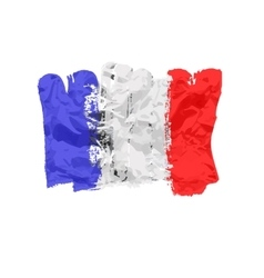 France flag painted by brush hand paints Art flag vector image