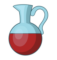 glass jug of wine icon cartoon style vector image