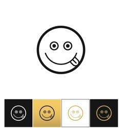 Happy smile logo or joy smiling icon vector image vector image