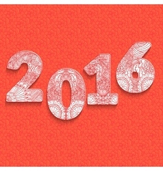 The inscription of the numbers for 2016 design vector
