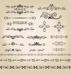 calligraphic floral element page decor vignette vector image vector image