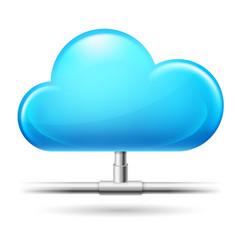 Cloud computing on white background for design vector