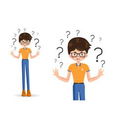 confused child shrugging shoulders vector image