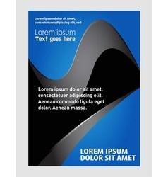 booklet catalog brochure folder vector image vector image