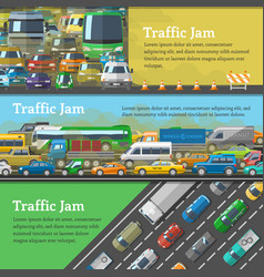 traffic road jam transportation problems vector image vector image
