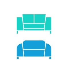 two green and blue sofas vector image