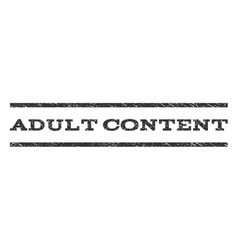 Adult Content Watermark Stamp vector image vector image