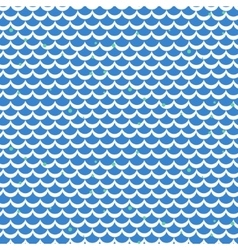 Fish scale blue seamless pattern vector image vector image