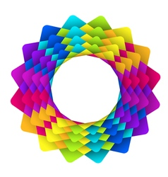 geometric rainbow flower logo vector image vector image