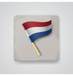 Netherlands flag icon vector image