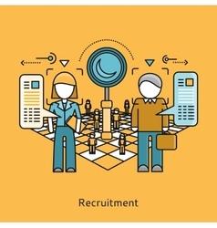 Recruitment icon flat design concept vector
