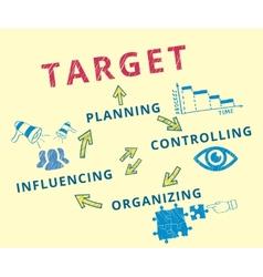 Target achievement vector image vector image
