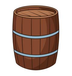 wine barrel icon cartoon style vector image