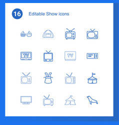 16 show icons vector image