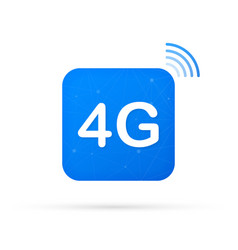 4g technology icon symbols wireless mobile vector