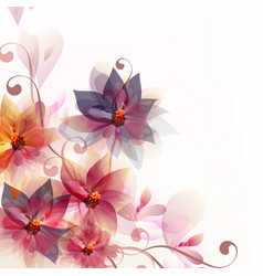 Abstract floral background with flowers and space vector