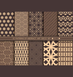 abstract of luxury art deco pattern set background vector image