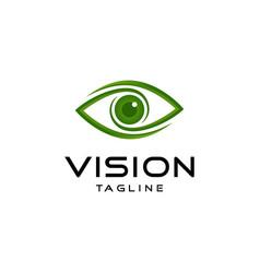 Abstract vision logo design vector