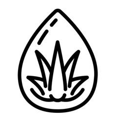 Aloe eco drop icon outline style vector