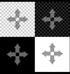 arrows dots in four directions icon isolated on vector image