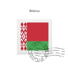 Belarus flag postage stamp vector